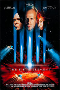 "The Fifth Element (Columbia, 1997) Rolled, Very Fine+. One Sheet (26.75"" X 39.75"") DS. Science Fiction"