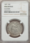 Seated Half Dollars: , 1879 50C -- Cleaned -- NGC Details. Fine. NGC Census: (1/237). PCGS Population: (4/405). CDN: $350 Whsle. Bid for problem-f...
