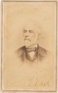 Autographs:Military Figures, Robert E. Lee: Rees Signed Carte-de-Visite [CDV]....