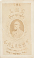 Photography:CDVs, Robert E. Lee: Vannerson Photograph on Lee Gallery Trade Card....