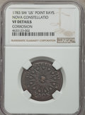 1783 C NOVA Nova Constellation Copper, Pointed Rays, Small US, -- Corrosion -- NGC Details. VF. NGC Census: (8/60). PCGS...