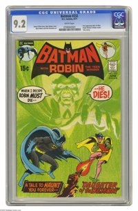 Batman #232 (DC, 1971) CGC NM- 9.2 White pages. First appearance of Ra's al Ghul. Origin of Batman and Robin retold. Tal...