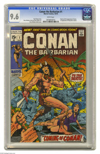 Conan the Barbarian #1 (Marvel, 1970) CGC NM+ 9.6 White pages. Conan the Barbarian made his first comic book appearance...