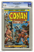 Bronze Age (1970-1979):Miscellaneous, Conan the Barbarian #53 (Marvel, 1975) CGC NM+ 9.6 White pages. GilKane and John Romita Sr. cover. John Buscema art. Overst...