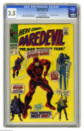 Daredevil #27 (Marvel, 1967) CGC VG- 3.5 Off-white pages. Spider-Man crossover. Gene Colan cover. Colan and Frank Giacoi...