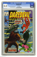 Bronze Age (1970-1979):Superhero, Daredevil #65 (Marvel, 1970) CGC VG- 3.5 White pages. Marie Severin cover. Gene Colan and Syd Shores art. Overstreet 2004 VG...