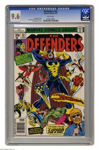 The Defenders #62 (Marvel) CGC NM+ 9.6 White pages. John Romita Jr. cover art. Sal Buscema and Jim Mooney interior art...