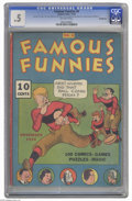 "Platinum Age (1897-1937):Miscellaneous, Famous Funnies #4 (Eastern Color, 1934) CGC PR 0.5 Off-white pages.The issue is a Gerber ""7."" CGC notes, ""2nd, 6th, 7th, 10..."