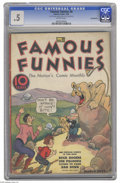 """Platinum Age (1897-1937):Miscellaneous, Famous Funnies #8 (Eastern Color, 1935) CGC PR 0.5 Brittle pages.The issue is a Gerber """"7."""" CGC notes, """"one-third of 7th pa..."""