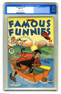 Famous Funnies #118 (Eastern Color, 1944) CGC NM- 9.2 Cream to off-white pages. Overstreet 2004 NM- 9.2 value = $95. CGC...