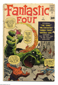 Fantastic Four #1 (Marvel, 1961) Condition: GD-. Historic first issue!. Stan Lee and Jack Kirby's masterpiece. Origin an...