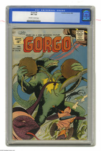 Gorgo #6 (Charlton, 1962) CGC VF+ 8.5 Off-white to white pages. Overstreet 2004 VF 8.0 value = $51; VF/NM 9.0 value = $7...