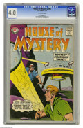 Silver Age (1956-1969):Mystery, House of Mystery #82 (DC, 1959) CGC VG 4.0 Off-white pages. BobBrown cover. Bernard Baily and George Roussos art. Overstree...