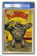 "Silver Age (1956-1969):Horror, Konga #5 (Charlton, 1962) CGC FN+ 6.5 Off-white pages. CGC notesthat this copy was ""manufactured with blank interior covers..."