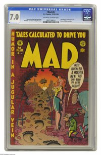 Mad #8 (EC, 1953) CGC FN/VF 7.0 Off-white to white pages. Lone Ranger, Frankenstein, and Batman & Robin parodies. Ha...