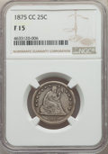 Seated Quarters: , 1875-CC 25C Fine 15 NGC. NGC Census: (2/45). PCGS Population: (14/113). Mintage 140,000. ...