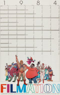 Animation Art:Poster, The Art of Filmation - Calendar Poster (Filmation, 1984)....