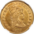 Early Eagles, 1799 $10 Large Obverse Stars, BD-10, R.3, MS63 NGC. CAC....
