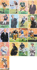 Football Collectibles:Others, 1980's-2000's Goal Line Art Pro Football Hall of Fame Signed Lot of 160+. ...