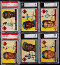 Baseball Cards:Lots, 1955 Topps Brooklyn Dodgers Graded Lot of 6. ...