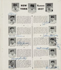 Baseball Collectibles:Others, 1937 New York Yankees Team Signed World Series Program....