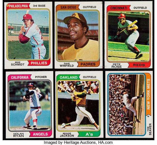 1974 Topps Baseball Complete Set 660 With Traded Set 44 Lot