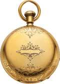 Timepieces:Pocket (pre 1900) , United States Watch Co. 18k Gold John W. Lewis. ...