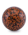Lapidary Art:Eggs and Spheres, Obsidian Sphere. Mexico. 3.12 inches (7.93 cm) in diameter ....