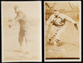 Baseball Cards:Lots, 1911 T5 Pinkerton Briscoe Lord & George McBride Photos Pair(2)....