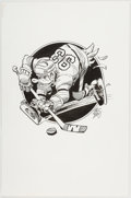 Original Comic Art:Illustrations, Jack Davis Anaheim Ducks Hockey Mascot Illustration OriginalArt (Hot Shots, c. 1990s). ...