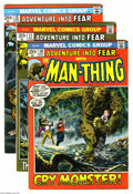 Bronze Age (1970-1979):Horror, Man-Thing and Related Titles Group (Marvel, 1972-75) Condition:Average FN/VF. This group includes Fear #10, 11 (Neal Ad... (Total:7 Comic Books Item)