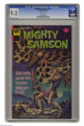Bronze Age (1970-1979):Miscellaneous, Mighty Samson #31 (Gold Key, 1976) CGC NM- 9.2 White pages.Overstreet 2004 NM- 9.2 value = $22. CGC census 2/05: 1 in 9.2, ...