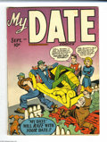 Golden Age (1938-1955):Romance, My Date Comics #2 (Hillman Publications, 1947) Condition: VG+.Simon and Kirby cover and art. Overstreet 2004 VG 4.0 value =...