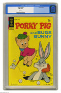 Bronze Age (1970-1979):Cartoon Character, Porky Pig #43 (Gold Key, 1972) CGC NM+ 9.6 White pages. Overstreet2004 NM- 9.2 value = $14. CGC census 2/05: 1 in 9.6, none...