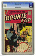 Silver Age (1956-1969):Adventure, Rookie Cop #32 (Charlton, 1957) CGC VG+ 4.5 Off-white pages. Overstreet 2004 VG 4.0 value = $12. CGC census 2/05: 1 in 4.5, ...