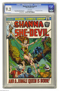 Bronze Age (1970-1979):Miscellaneous, Shanna the She-Devil #1 (Marvel, 1973) CGC NM- 9.2 White pages.Origin and first appearance of Shanna the She-Devil. Jim Ste...