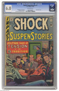 Golden Age (1938-1955):Horror, Shock SuspenStories #1 (EC, 1952) CGC FN 6.0 Off-white pages.Electrocution cover by Al Feldstein. Jack Kamen, Jack Davis, J...