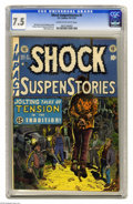 Golden Age (1938-1955):Horror, Shock SuspenStories #5 (EC, 1952) CGC VF- 7.5 Cream to off-whitepages. Wally Wood cover. Wood, Jack Kamen, Jack Davis, and ...