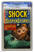Golden Age (1938-1955):Horror, Shock SuspenStories #15 (EC, 1954) CGC VF 8.0 Off-white to whitepages. Jack Kamen cover. Kamen. Wally Wood, Reed Crandall, ...