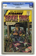 Golden Age (1938-1955):Horror, Strange Suspense Stories #27 (Charlton, 1955) CGC FN/VF 7.0Off-white pages. Marcus Swayze art. Overstreet 2004 FN 6.0 value...