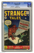 """Silver Age (1956-1969):Adventure, Strange Tales #94 (Marvel, 1962) CGC FN+ 6.5 Off-white pages. """"The Thing prototype"""" according to Overstreet. Jack Kirby cove..."""