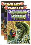 Bronze Age (1970-1979):Horror, Swamp Thing Group (DC, 1972-74) Condition: Average VG/FN. Thisgroup consists of eight comics: #1, 4 (two copies), 7 (two co...(Total: 8 Comic Books Item)