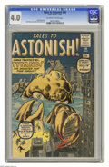 Silver Age (1956-1969):Mystery, Tales to Astonish #10 (Marvel, 1960) CGC VG 4.0 Off-white to whitepages. Jack Kirby cover. Kirby, Steve Ditko, and Don Heck...