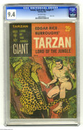 Silver Age (1956-1969):Adventure, Tarzan Lord of the Jungle #1 (Gold Key, 1965) CGC NM 9.4 Off-white pages. Paper cover. Overstreet 2004 NM- 9.2 value = $115....