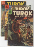 Silver Age (1956-1969):Adventure, Turok Group (Dell, 1956-60) Condition: Average VG. This group includes #5 (GD), 12, 13 (GD), 17, and 19. Approximate Overstr... (Total: 5 Comic Books Item)