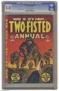 Golden Age (1938-1955):War, Two-Fisted Annual #1 (EC, 1952) CGC VG/FN 5.0 Off-white to whitepages. Harvey Kurtzman cover. Overstreet 2004 VG 4.0 value ...