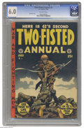 Golden Age (1938-1955):War, Two-Fisted Annual #2 (EC, 1953) CGC FN 6.0 Off-white pages. JackDavis cover. Overstreet 2004 FN 6.0 value = $204. CGC censu...