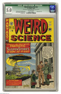 Golden Age (1938-1955):Horror, Weird Science 13 (#2) (EC, 1950) CGC Qualified VG/FN 5.0 Off-whitepages.. UFO cover by Al Feldstein. Feldstein, Harvey Kurt...