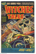 Golden Age (1938-1955):Horror, Witches Tales #20 (Harvey, 1953) Condition: VG+. Lee Elias, HowardNostrand, and Bob Powell art. The cover art appears to be...