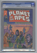 Magazines:Science-Fiction, Planet of the Apes #1 (Marvel, 1974) CGC VF- 7.5 Off-white pages.Adaptation of the original movie. Bob Larkin cover. Mike P...